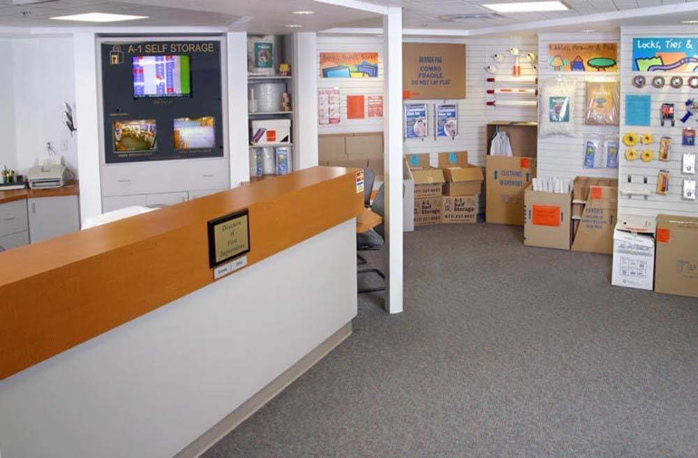 Large Self Storage Office at A-1 Self Storage in El Cajon, CA