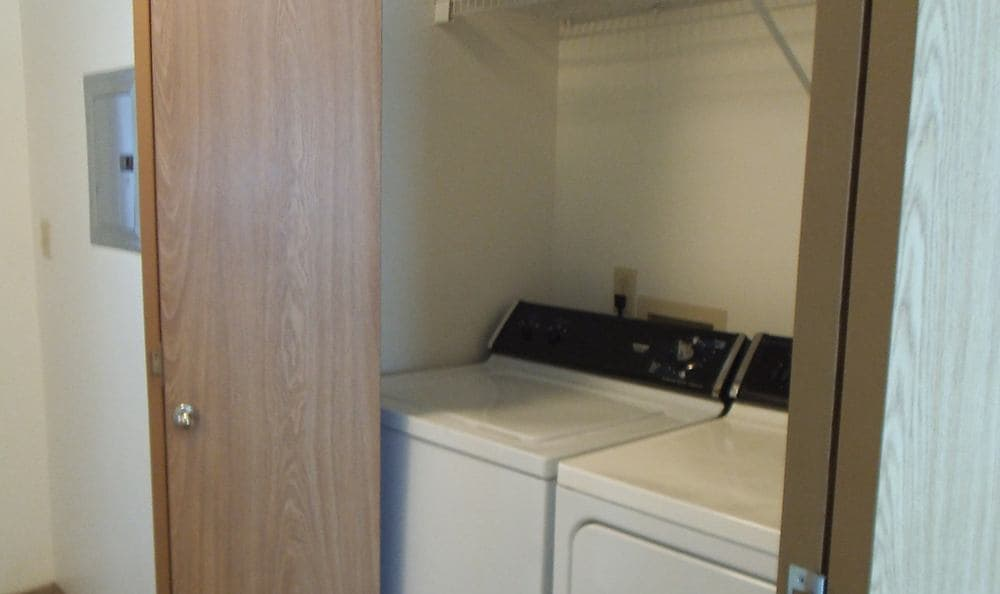 The extra-large capacity washer and dryer in your new apartment home at Meadow Crest will save you time and money.