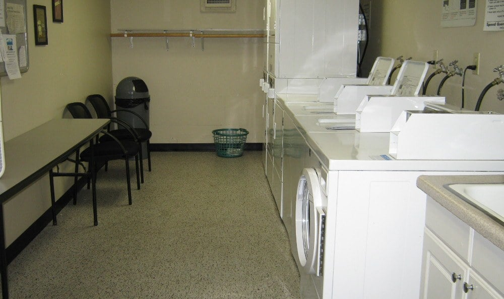 Laundry room at Grace Peck Terrace