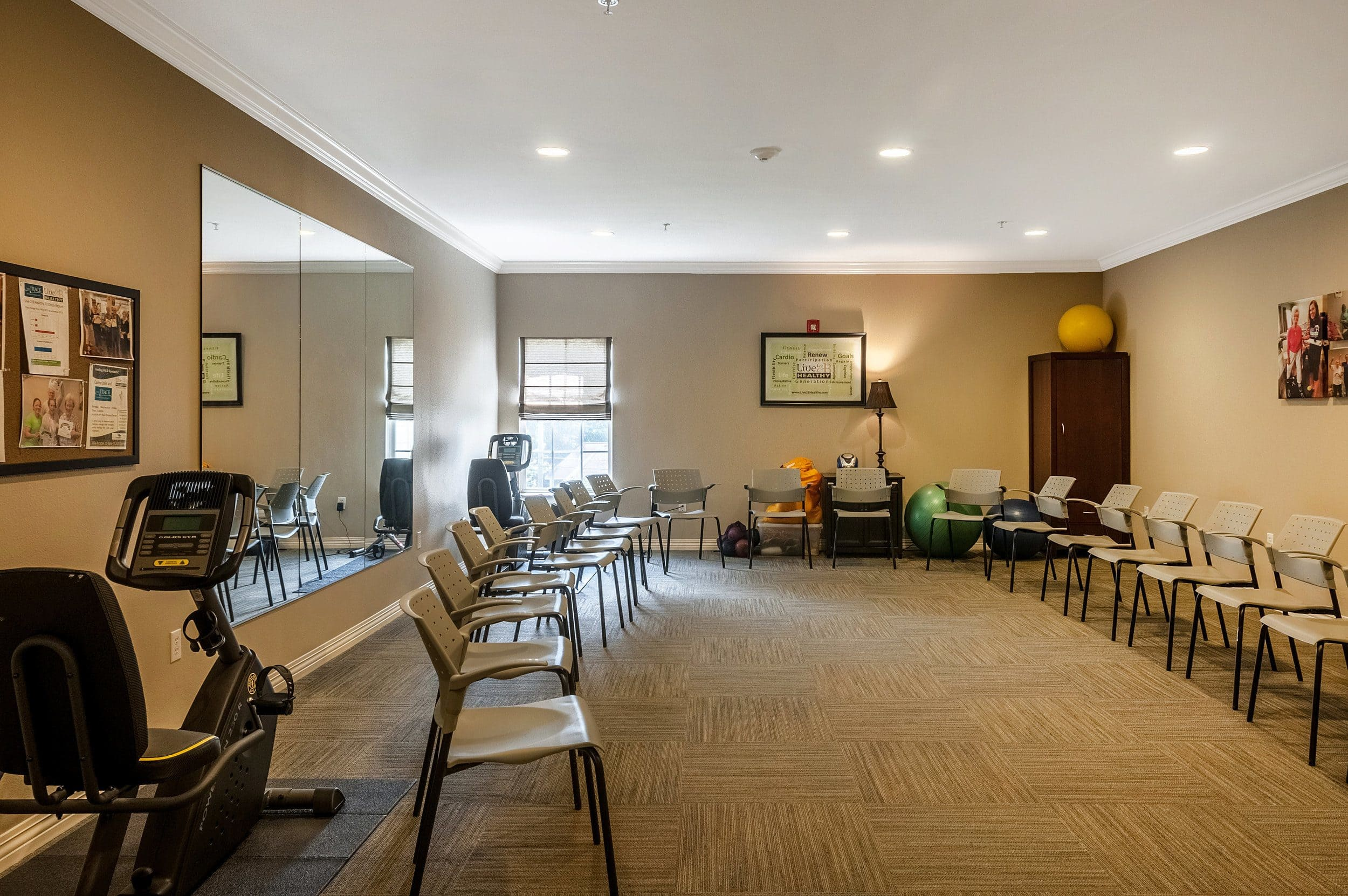 Fitness Center At Our Senior Living Home In Covington