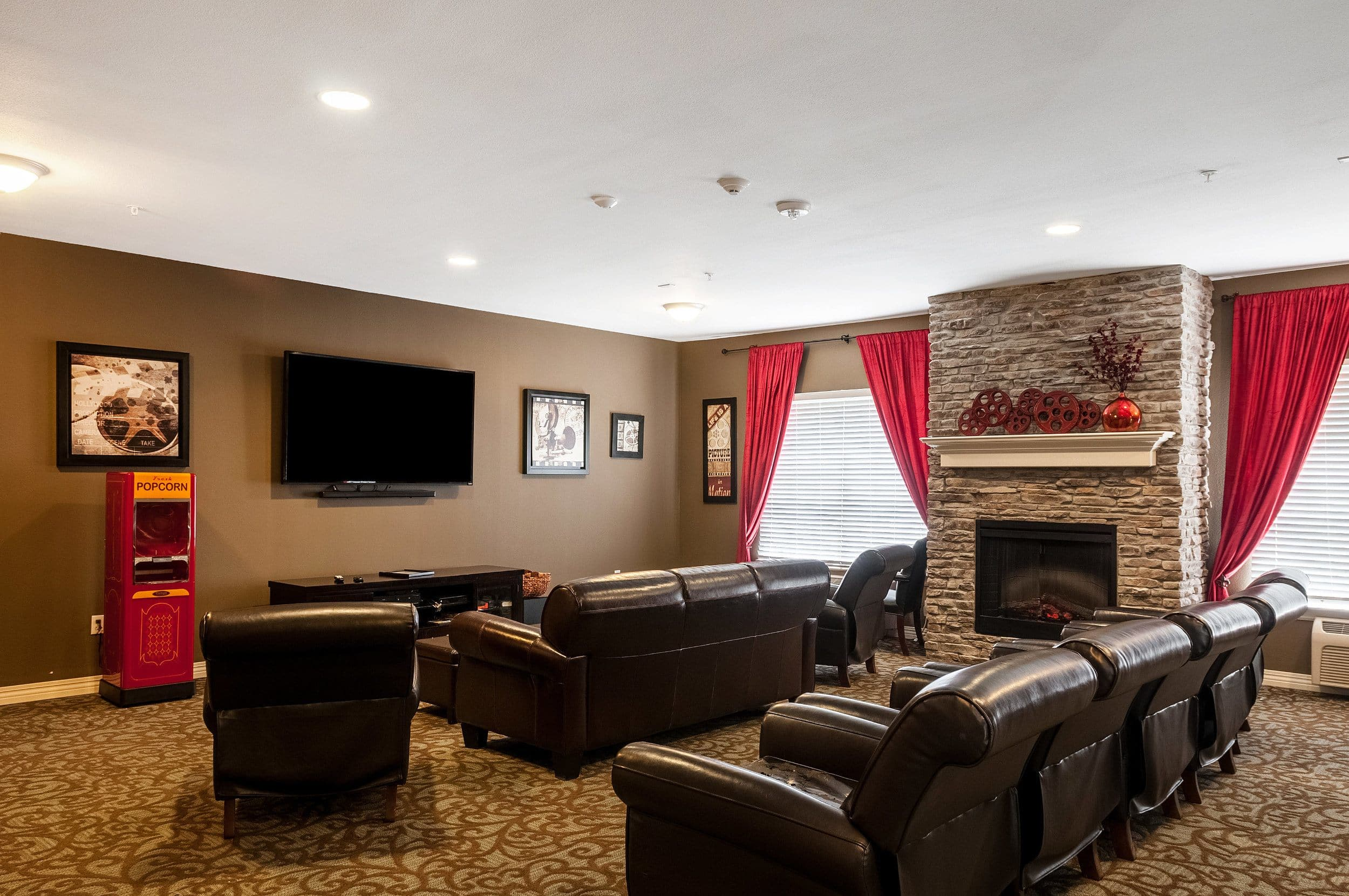 Theater At Our Senior Living Home In Covington