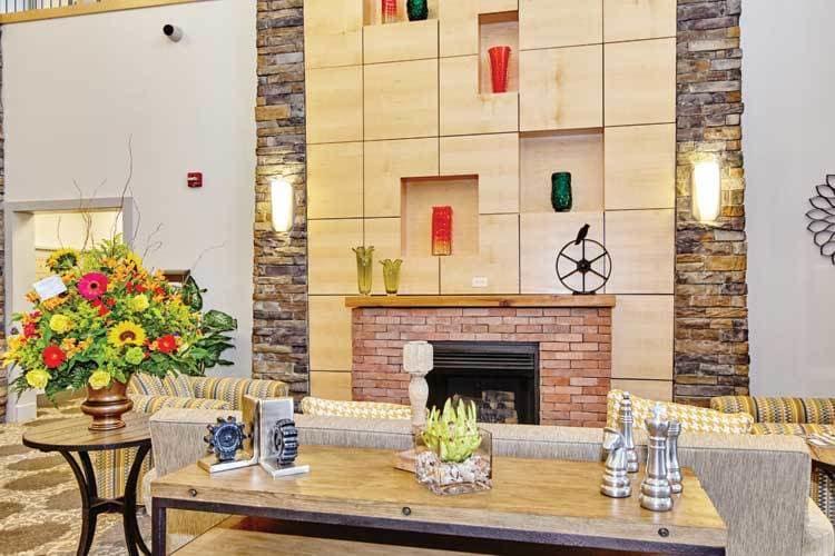 Cozy lobby at The Summit