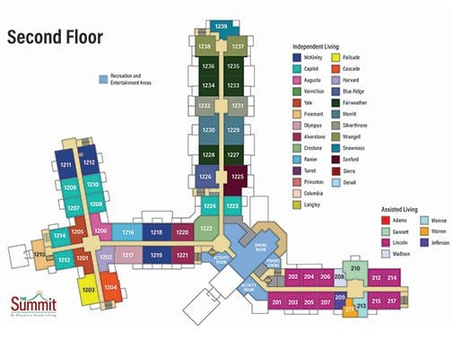 The Summit - Sedond Floor Plan