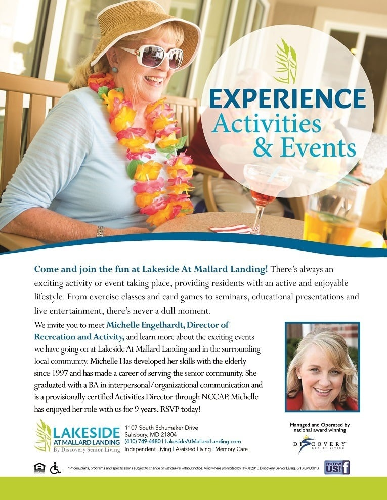 Activities Director At Lakeside At Mallard Landing