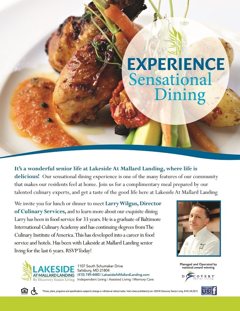 Executive Chef At Lakeside At Mallard Landing