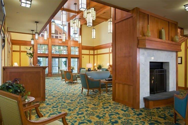 Cozy lobby at Spring Mill