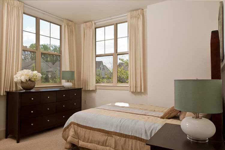 An apartment bedroom view at Spring Mill