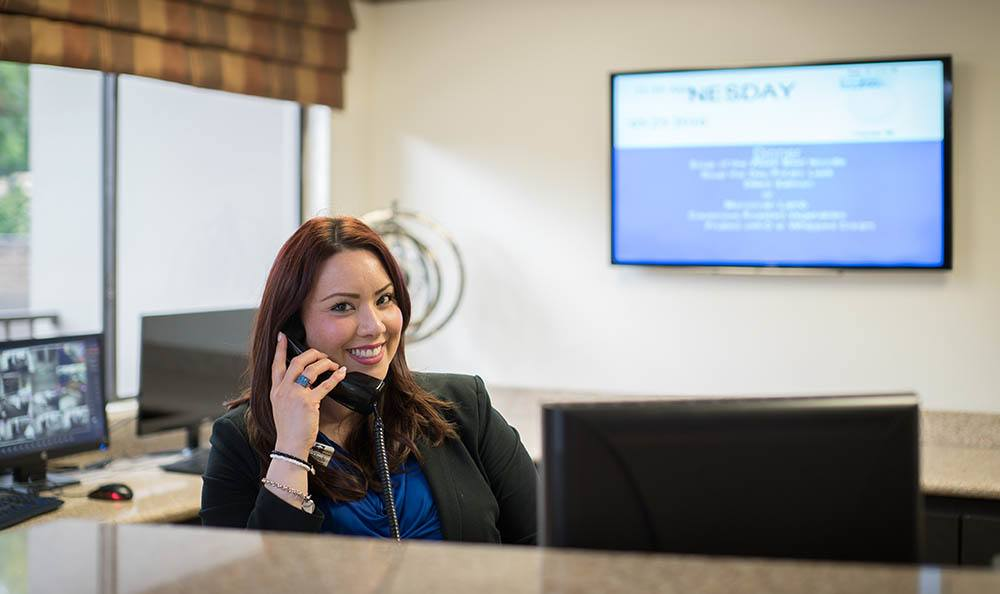 Reception/Front desk at Pasadena Highlands