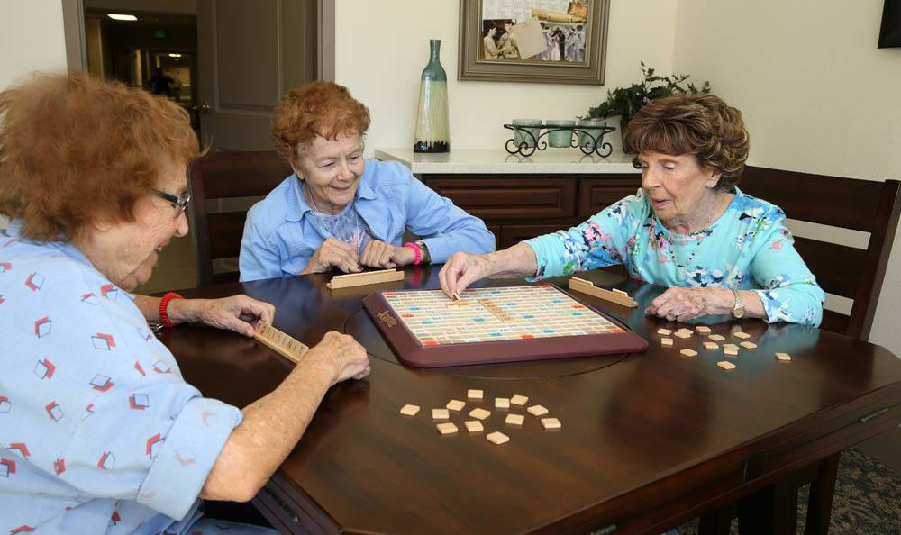 Scrabble Activities At The Commons at Woodland Hills