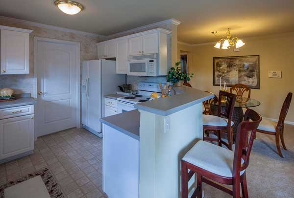 Interior kitchen at Mainstreet Village
