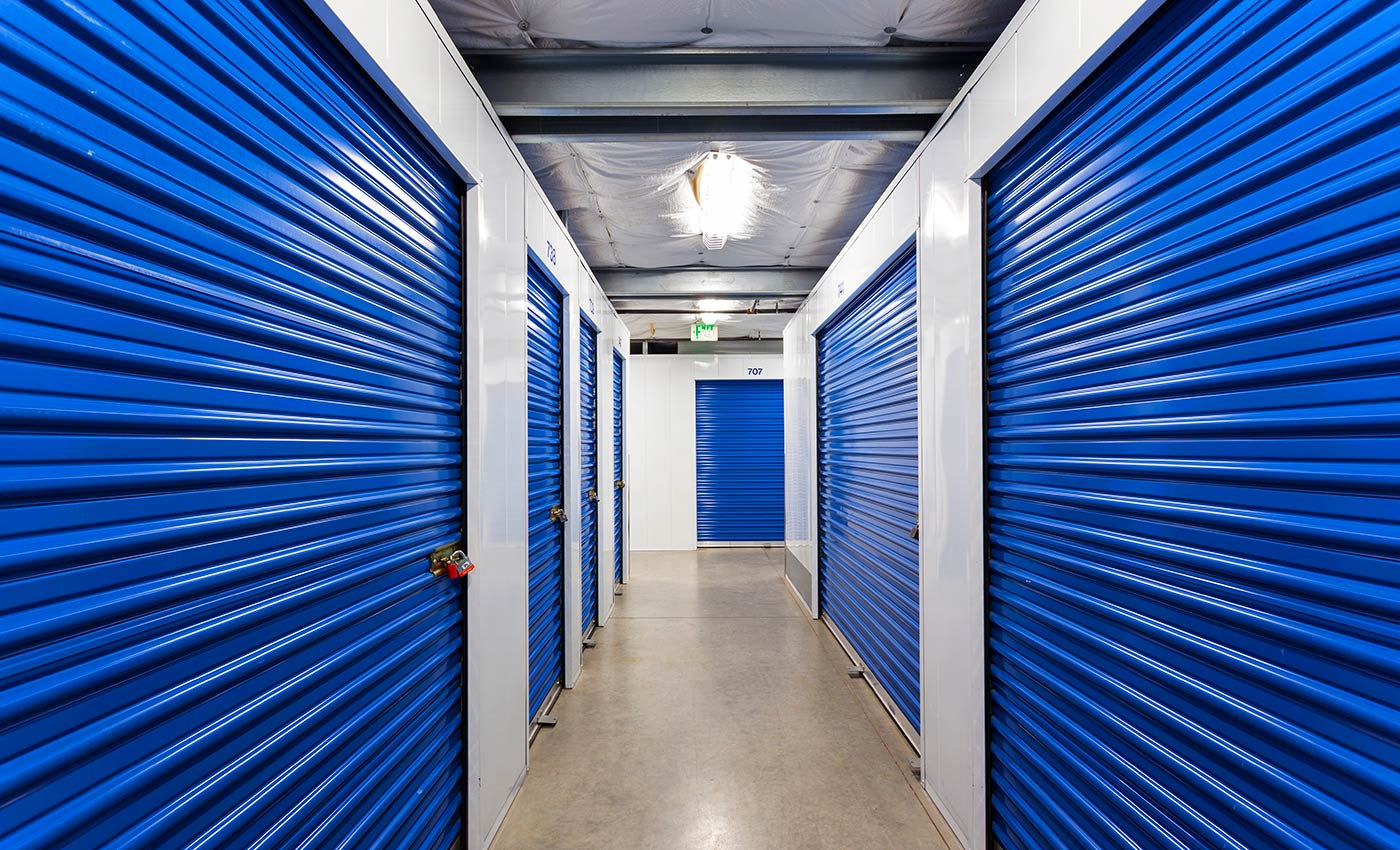 The interiors of our storage facility here in Lake Forest are always kept clean and free of debris at AAA Quality Self Storage.