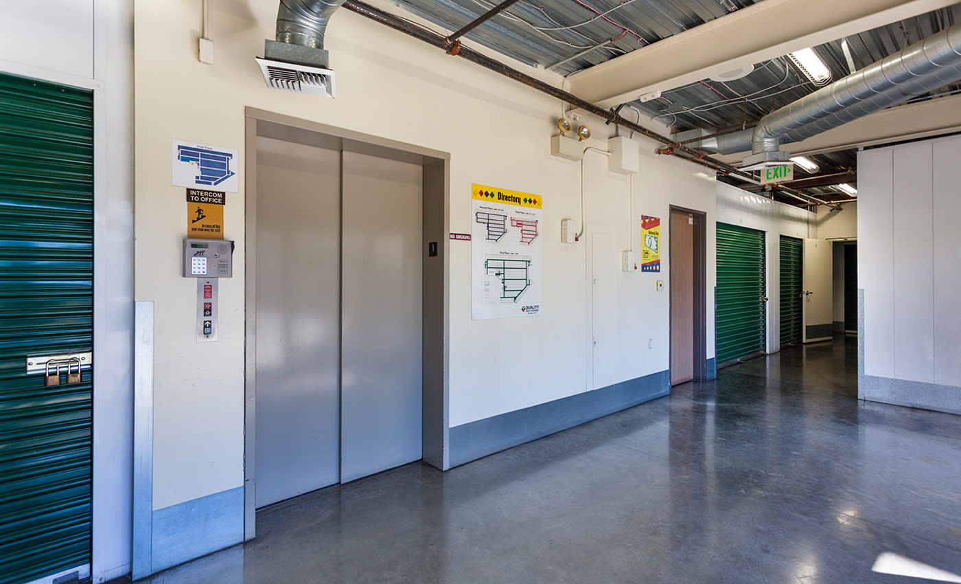 The interiors of our storage facility here in Tustin are always kept clean and free of debris at AAA Quality Self Storage.
