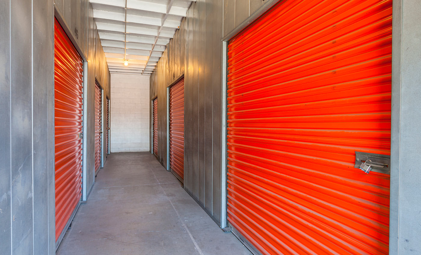 The interiors of our storage facility here in Sun Valley are always kept clean and free of debris at Sun Valley Self Storage.