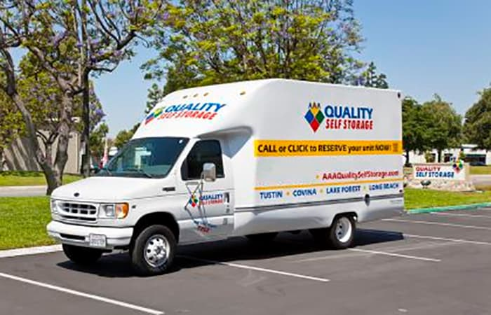 Most AAA Quality Self Storage locations offer free use of a moving truck at initial move-in!