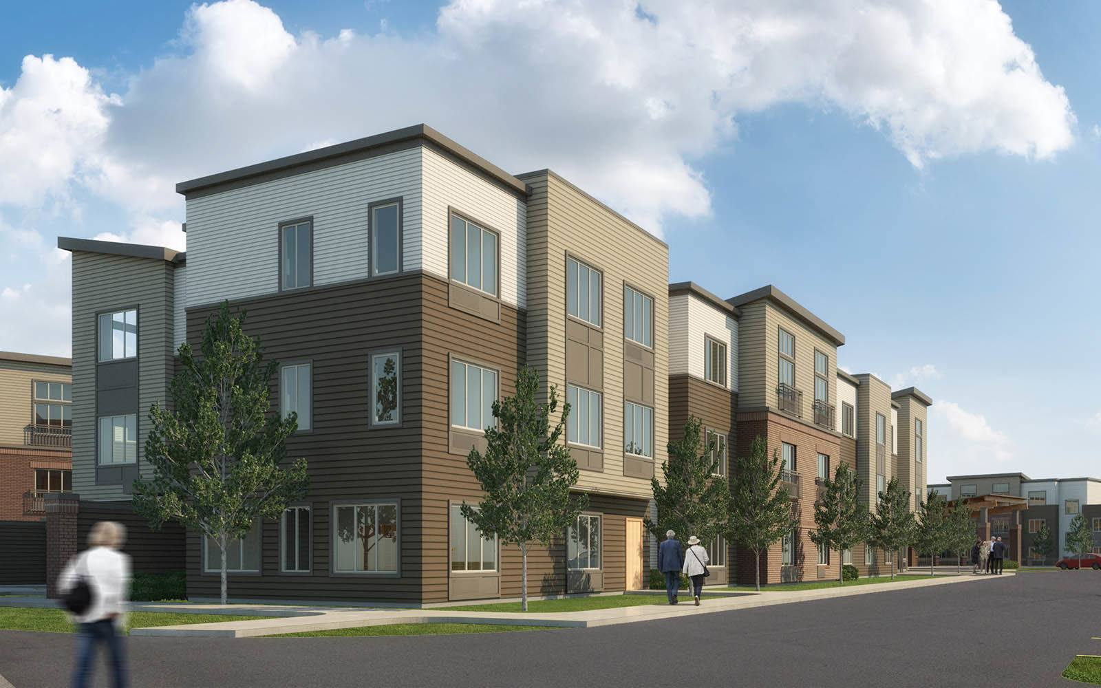 Rendering Of Our Building Exterior at Brightwater Senior Living of Capital Crossing in Regina, SK
