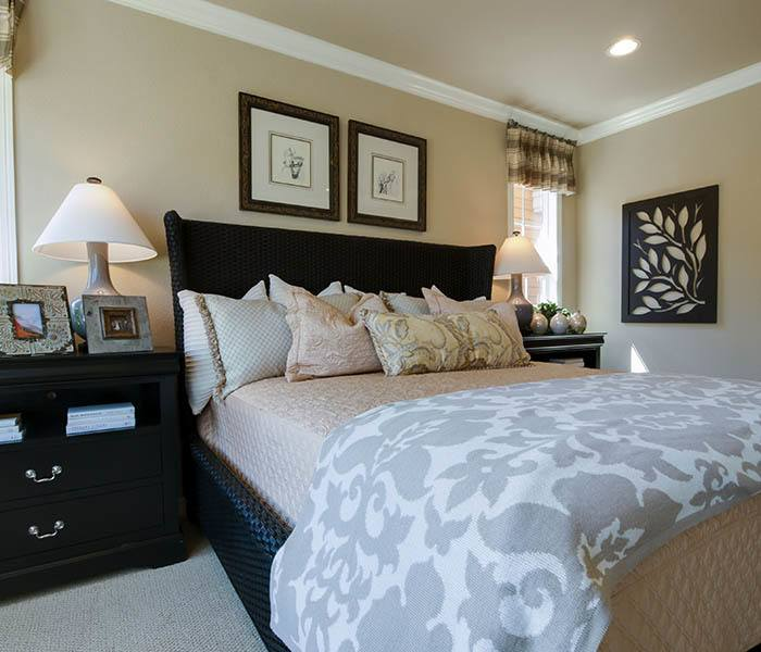 Bedroom layout at Brightwater Senior Living of Linden Ridge in Winnipeg, Manitoba