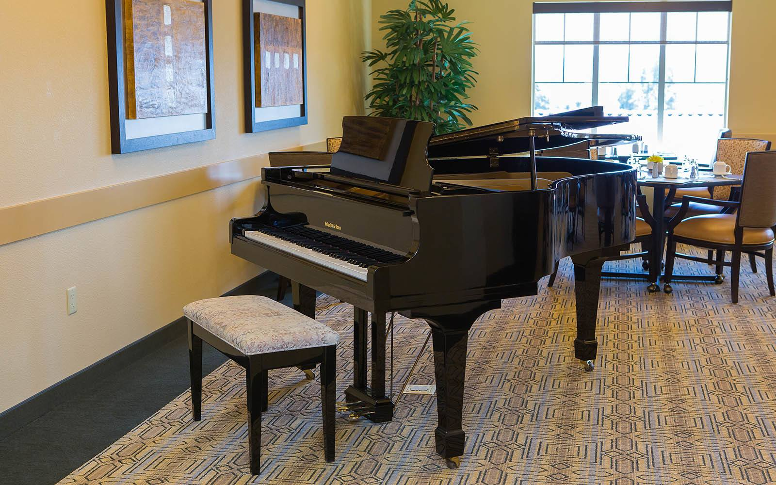 Piano at Brightwater Senior Living of Highland in Highland, CA