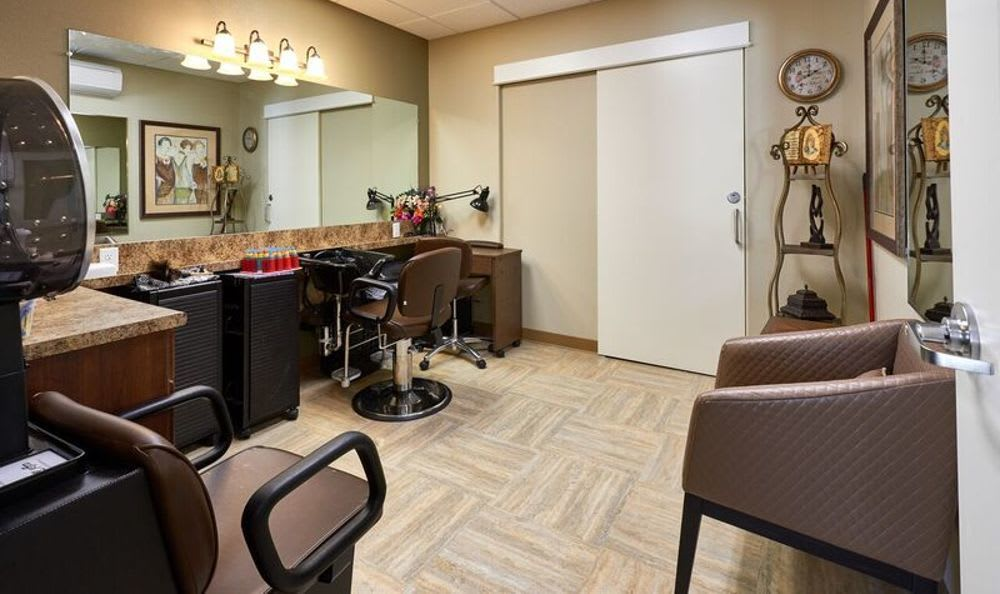 Beauty saloon at Sunnyside Meadows Memory Care