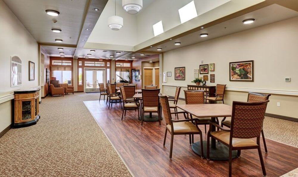 Dining area at Sunnyside Meadows Memory Care