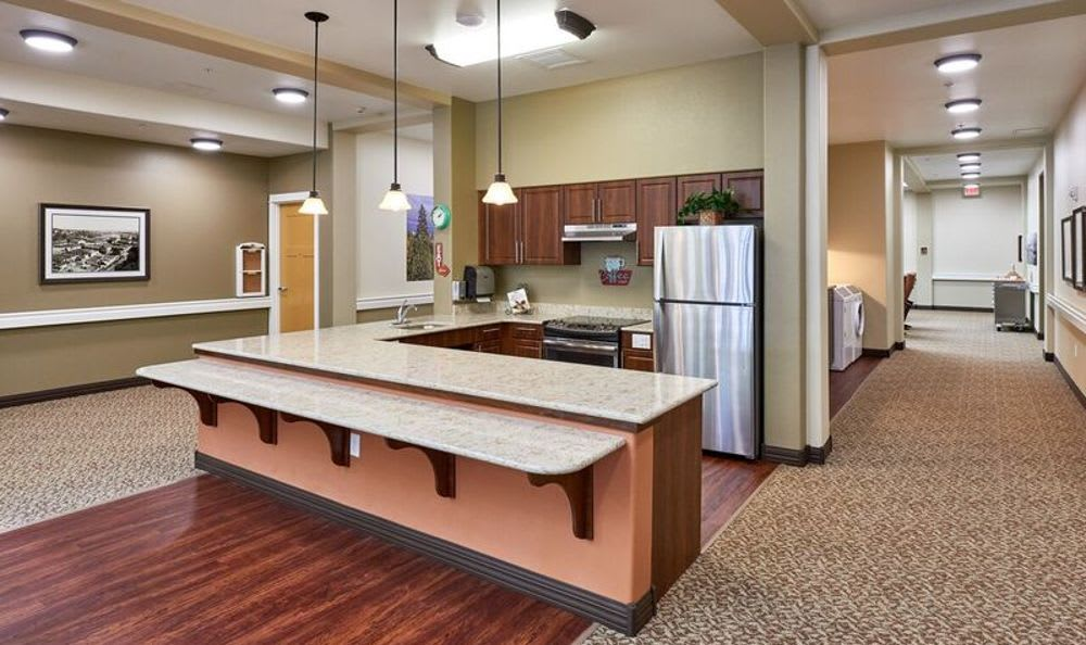 Kitchen at Sunnyside Meadows Memory Care