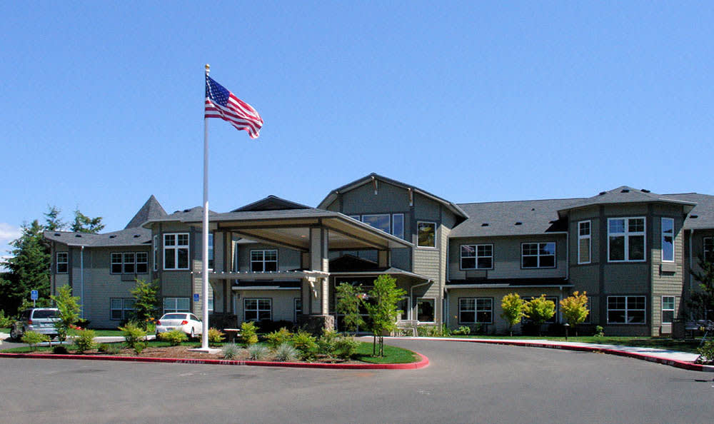 Front Entrance at Middlefield Oaks Assisted Living and Memory Care in Cottage Grove, OR