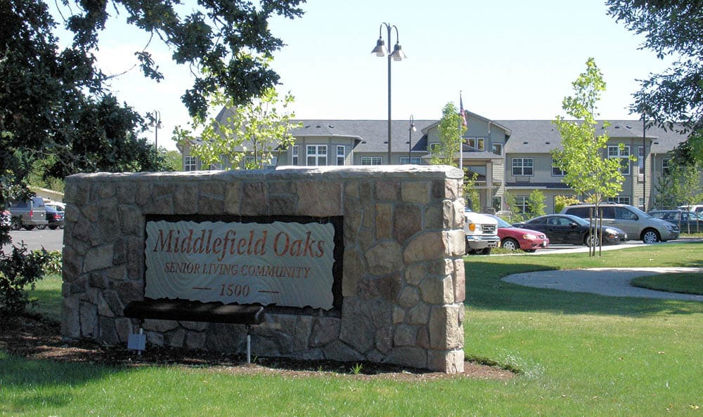 Signage at Middlefield Oaks Assisted Living and Memory Care in Cottage Grove, OR