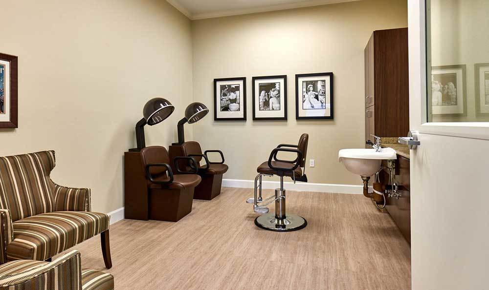 Beauty Salon at The Rawlin at Riverbend Memory Care
