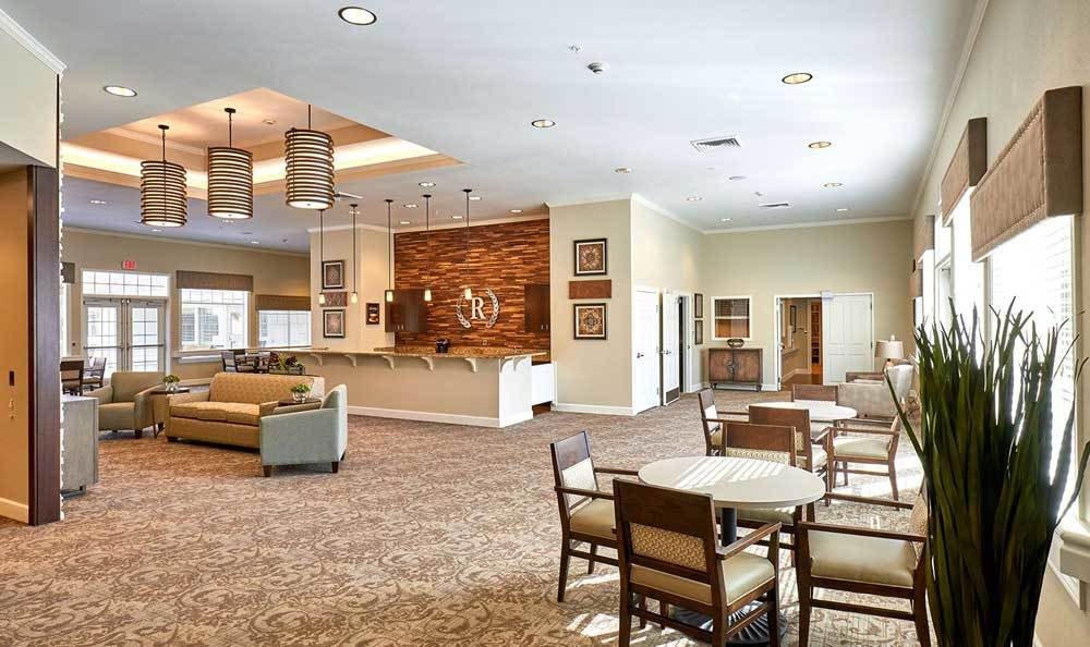 Lobby at The Rawlin at Riverbend Memory Care
