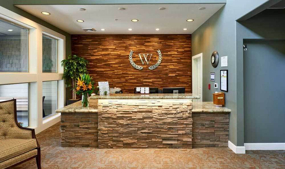 Front desk at Waterhouse Ridge Memory Care in Beaverton, OR