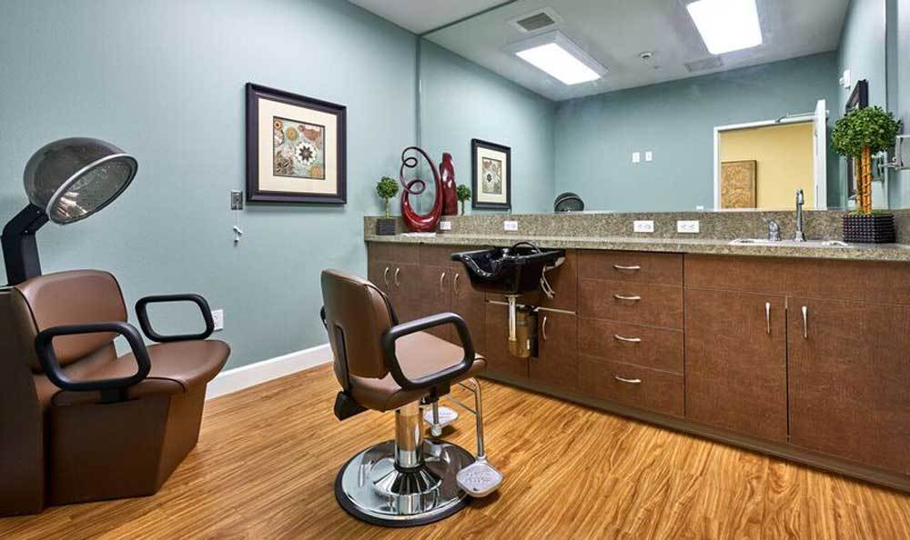 Hair saloan at Waterhouse Ridge Memory Care in Beaverton, OR