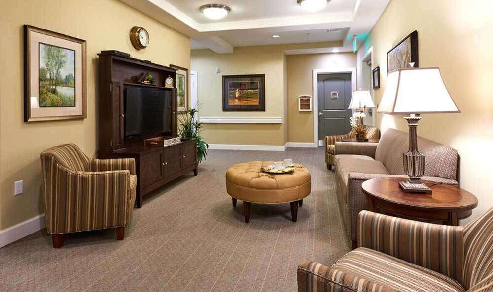 Lobby at Waterhouse Ridge Memory Care in Beaverton, OR
