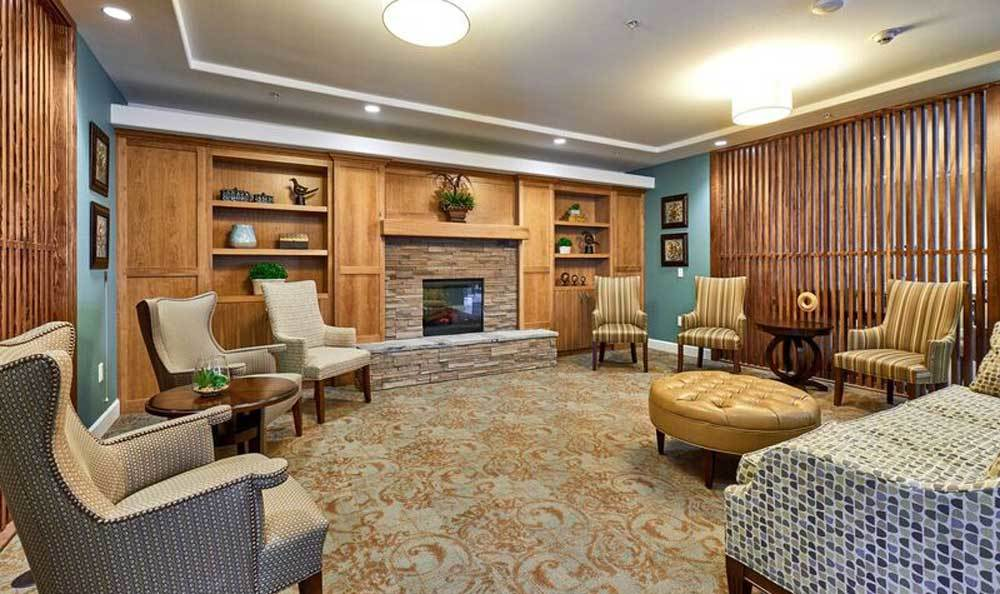 Lounge at Waterhouse Ridge Memory Care in Beaverton, OR