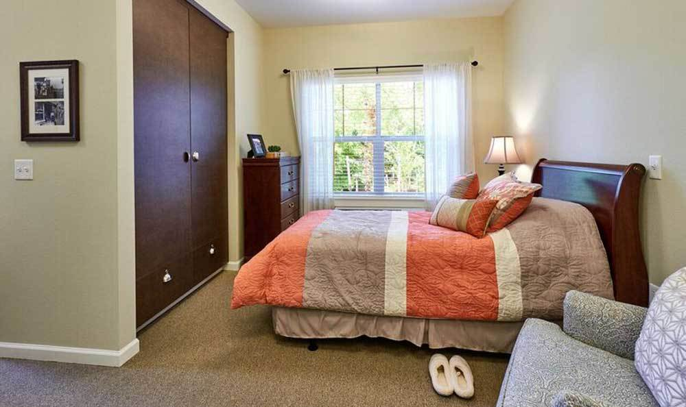 Bedroom at Waterhouse Ridge Memory Care in Beaverton, OR