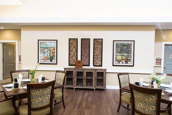 Dining Room at Waterhouse Ridge Memory Care