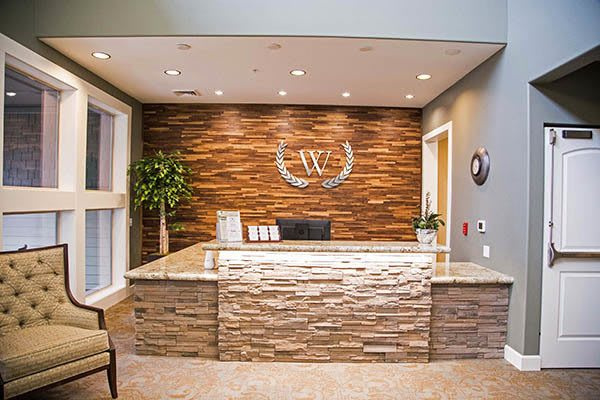 Front Desk In Lobby at Waterhouse Ridge Memory Care