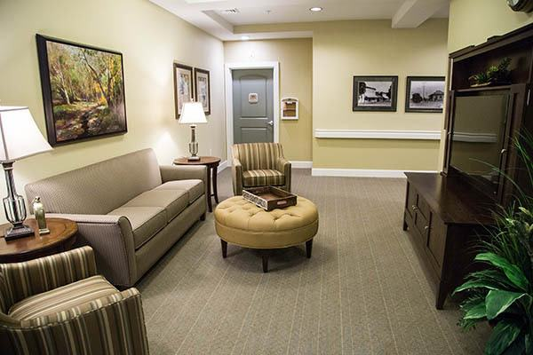 Seating Around The Tv at Waterhouse Ridge Memory Care