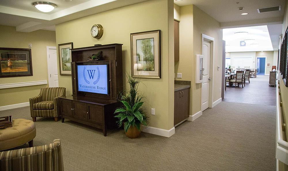 Tv Viewing Area at Waterhouse Ridge Memory Care in Beaverton, OR