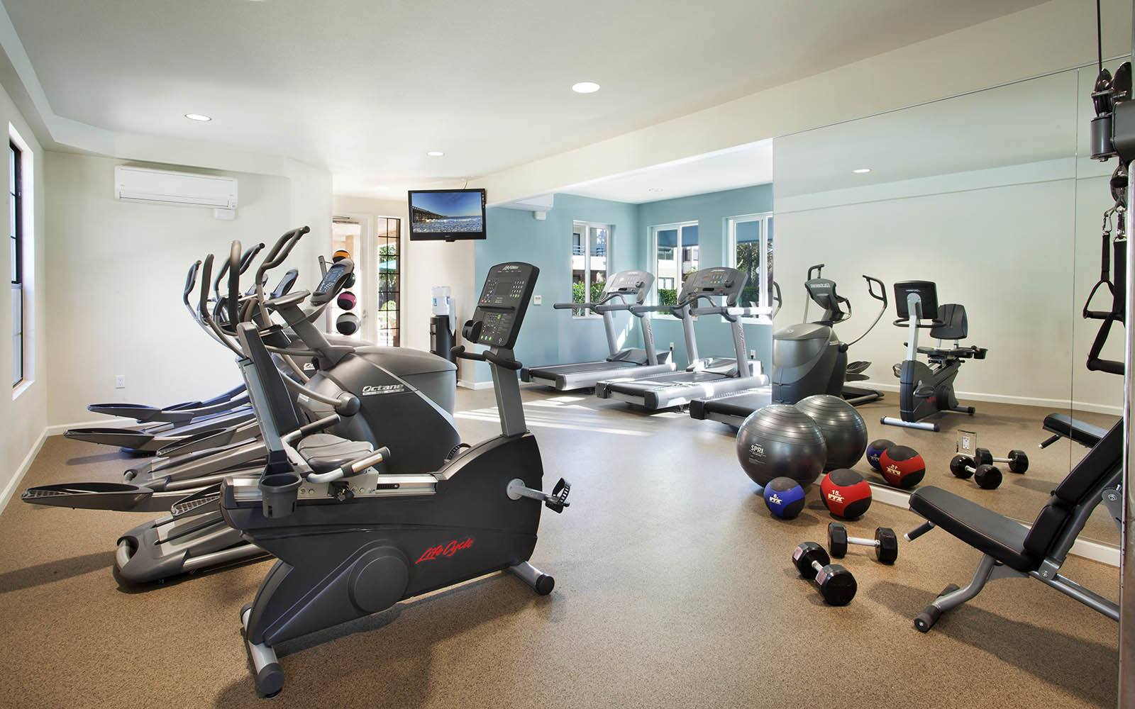 Cardio Equipment And Free Weights at Cypress Point Apartments in Ventura, CA
