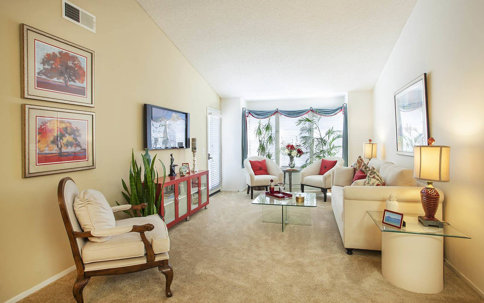 Large Living Room Area at Cypress Point Apartments in Ventura, CA