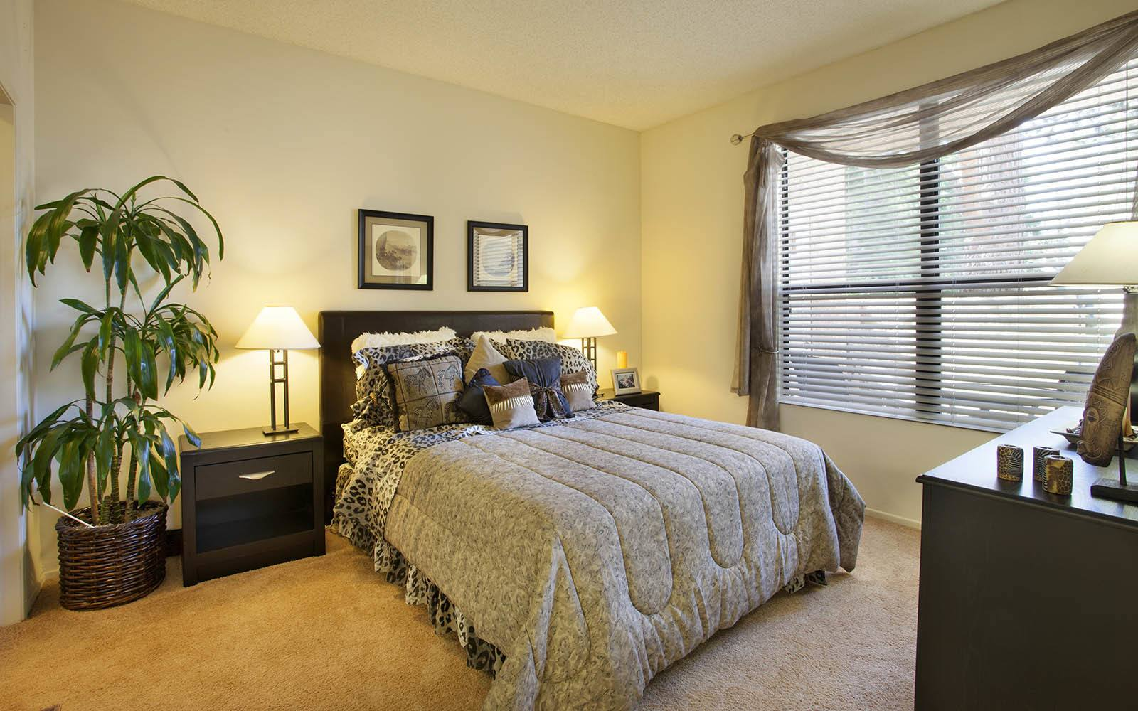 Spacious Bedroom With Large Windows at Cypress Point Apartments in Ventura, CA
