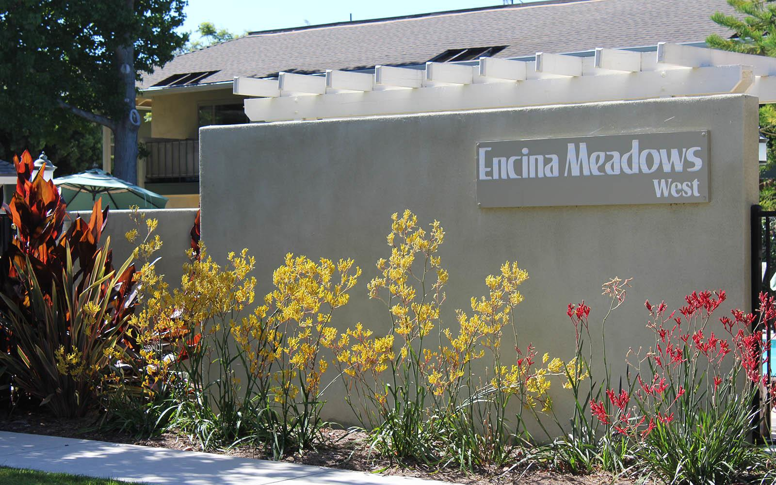 Signage at Encina Meadows Apartments in Goleta