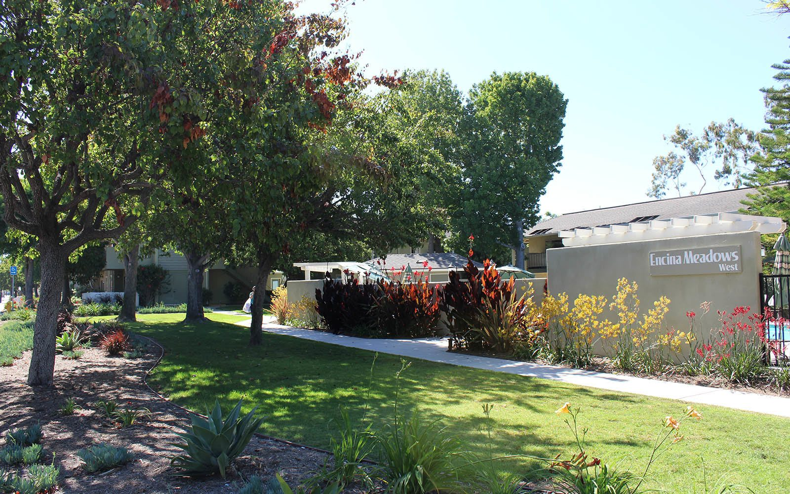 Landscaping at apartments in Goleta, CA
