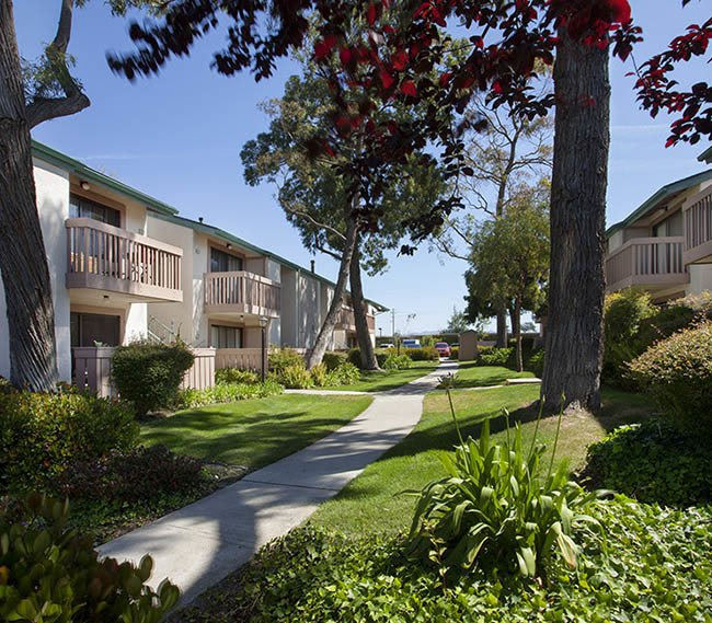 Walkway at Knollwood Meadows Apartments