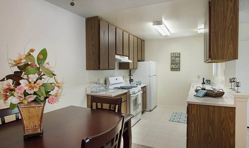 Kitchen at apartments in Santa Maria, CA