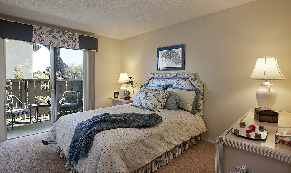 Bedroom at Oceanwood Apartments in Lompoc