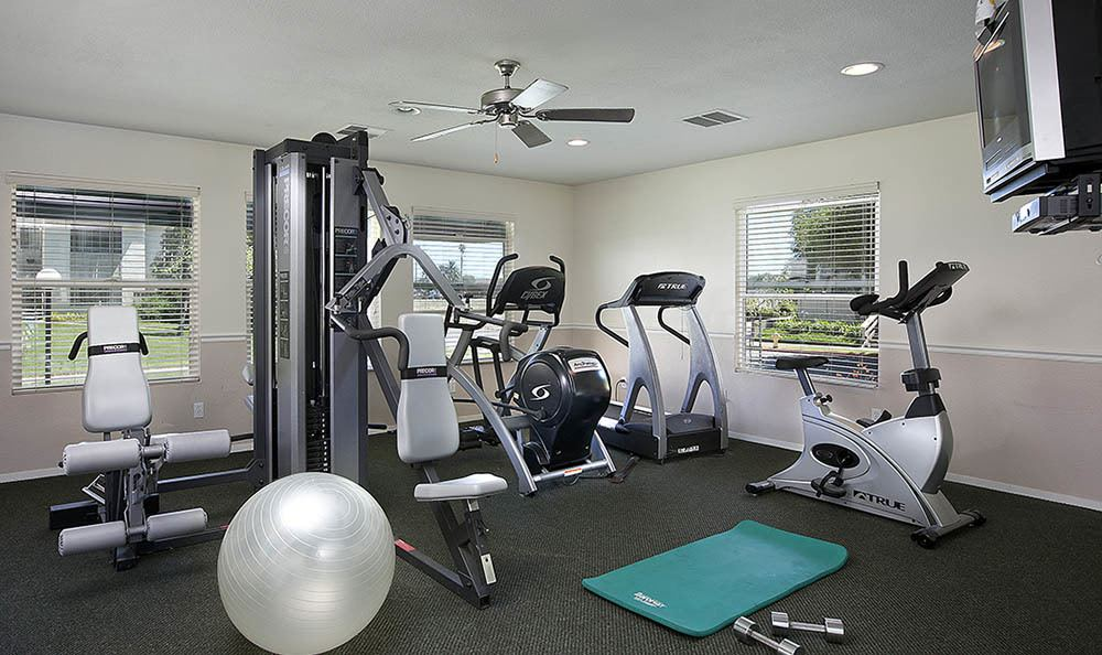 Fitness center at apartments in Lompoc, CA