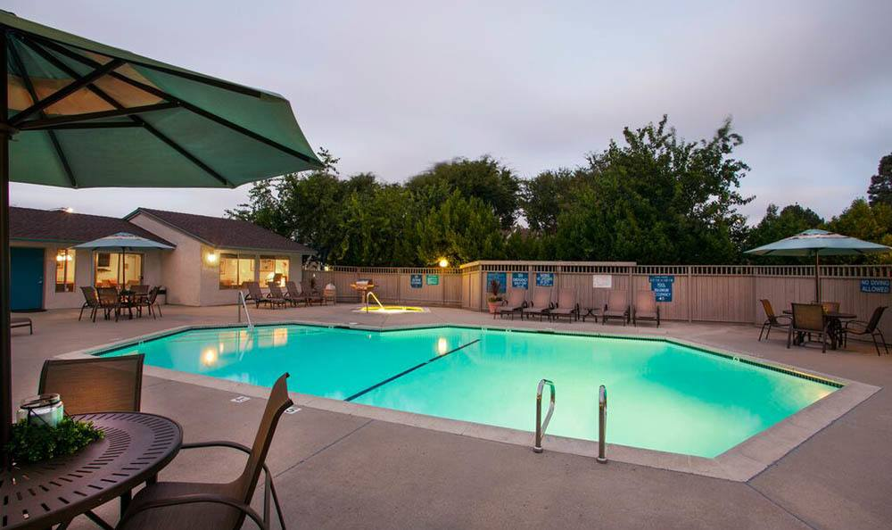 Pool at Oceanwood Apartments in Lompoc