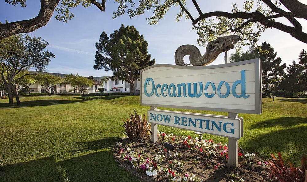Signage at Oceanwood Apartments in Lompoc