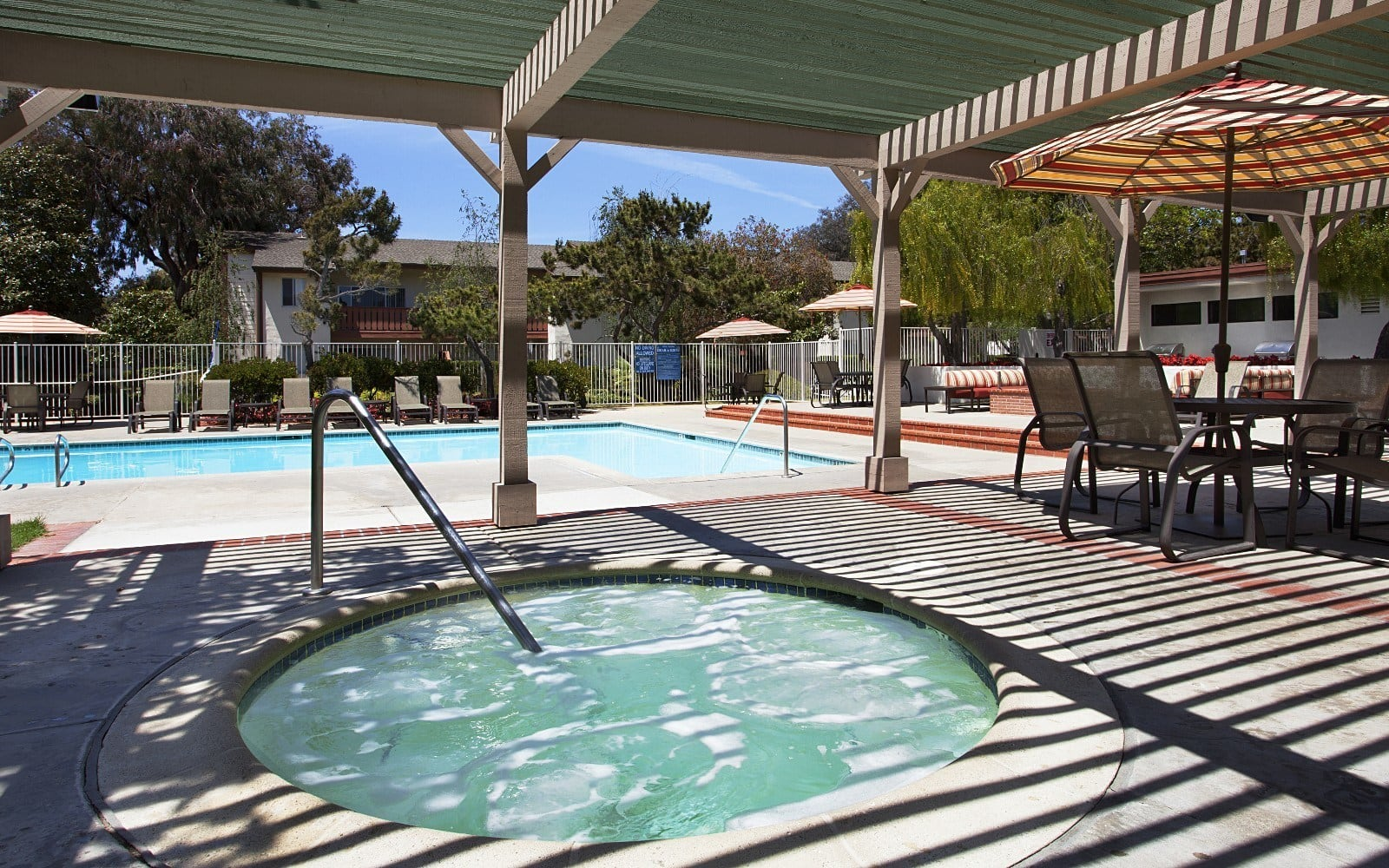 Spa at apartments in Goleta, CA