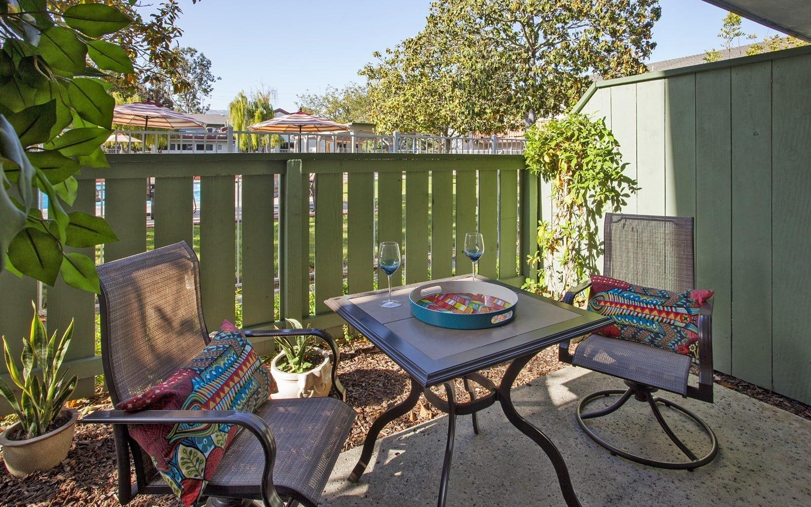 Patio at Pacific Oaks Apartments in Goleta